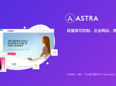 Astra PRO   企业 博客 商店 可定制轻量级 WordPress 主题 已汉化