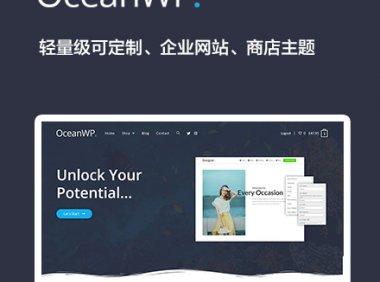 OceanWP   企业 博客 商店 可定制轻量级 WordPress 主题 中文汉化版